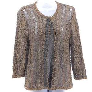 Jones New York Collection Cardigan Sweater Brown S